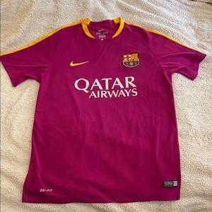 Nike Large Magenta Soccer Football Jersey FCB